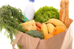 Healthy organic product. Paper bag with healthy organic product Stock Photo