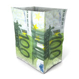 Paper bag hundred euros Royalty Free Stock Photos