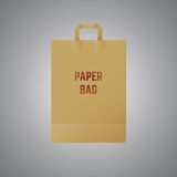 Vector paper bag Stock Photography