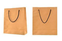 Paper bag isolated Royalty Free Stock Photos