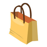 Paper bag isolated illustration Stock Photography