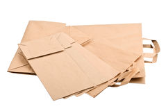 Paper Bag isolated on white royalty free stock images