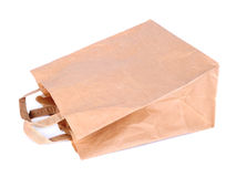 Paper bag isolated on a white Royalty Free Stock Photography