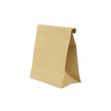 Paper bag isolated on white background Royalty Free Stock Photos