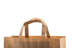 Paper bag isolated on white Stock Photography