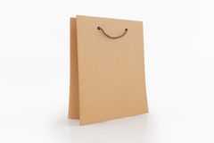 Paper bag isolated on white background. Royalty Free Stock Images
