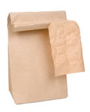 Paper bag with a label Stock Photography