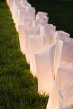 Paper bag lamps Royalty Free Stock Photo