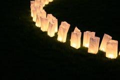 Paper bag lamps stock photos