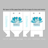 Paper bag with a lotus Stock Images