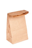 Paper bag (lunch bag) isolated Royalty Free Stock Image