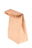 Paper bag (lunch bag) isolated. On white background Stock Photo