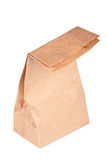 Paper bag (lunch bag) isolated. On white background Royalty Free Stock Image