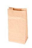 Paper bag (lunch bag) isolated. On white background Stock Images