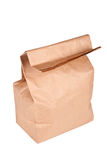 Paper bag (lunch bag) isolated Stock Photos