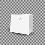 Paper bag mock up vector template on transparent background. Royalty Free Stock Images