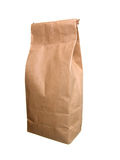 Paper Bag Of Tea With. Isolated On White. Royalty Free Stock Photos