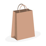 Paper bag over white Stock Photo