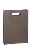 Paper bag for shopping. A brown paper bag for shopping stock images