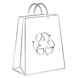Paper bag shopping Stock Images