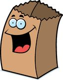 Paper Bag Smiling Stock Image