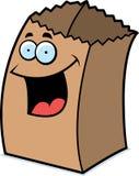 Paper Bag Smiling Stock Image