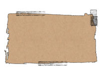 Paper Bag with Tape. Illustration of a torn paper bag with tape with blank area for text or image vector illustration