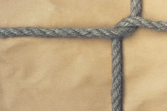 Paper bag tied with a rope Royalty Free Stock Images
