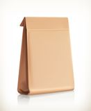 Paper bag vector object Royalty Free Stock Photos