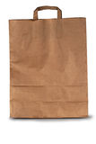 Paper bag. On a white background Stock Photos