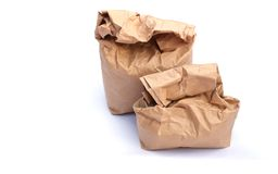 Paper bag. The paper bag are on white background Royalty Free Stock Photo