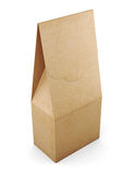 Paper bag  on white background. 3d rendering Stock Images