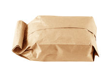 Paper bag on white background Royalty Free Stock Photography