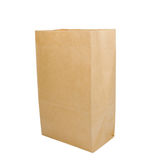 Paper bag on white Royalty Free Stock Photos