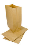 Paper bag on white Stock Images