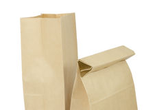 Paper bag on white Stock Image