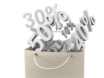 Free Paper Bag With Discount Rate Stock Images - 17975304