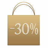Paper bags. Environmental paper bags for shopping with discount Stock Photography