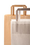 Paper bags. On white background. Consumerism symbol Royalty Free Stock Images