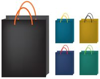 Paper Bags. Vector Illustration on paper bags. Different color tone available Stock Photo
