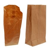 Paper bags brown Royalty Free Stock Images
