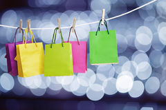 Paper bags for clothes Stock Photo