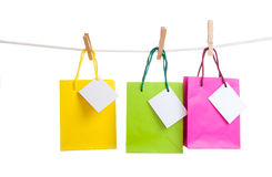Paper bags for clothes pins Royalty Free Stock Photography