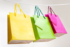 Paper bags for clothes pins Stock Images