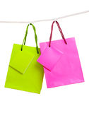 Paper bags for clothes pins Royalty Free Stock Photos