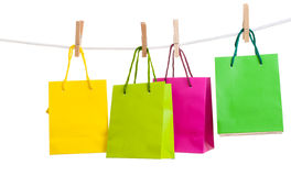Paper bags for clothes pins Stock Photography