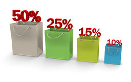 Paper bags colored Stock Images