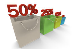 Paper bags colored Royalty Free Stock Image