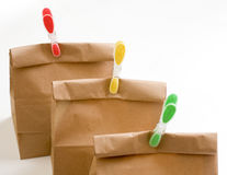 Paper bags composition closeup Stock Images