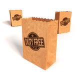 Paper bags with duty free Royalty Free Stock Photo